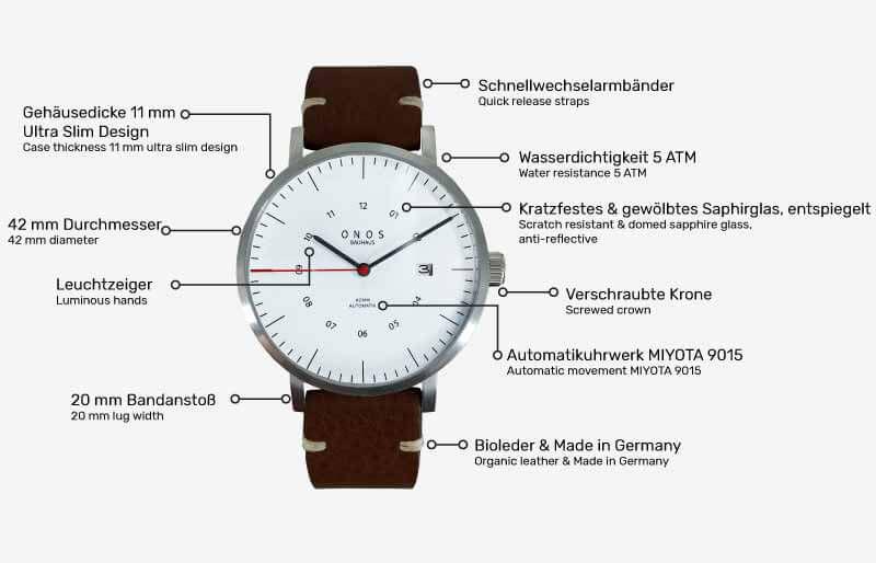 Funktionen der Uhr