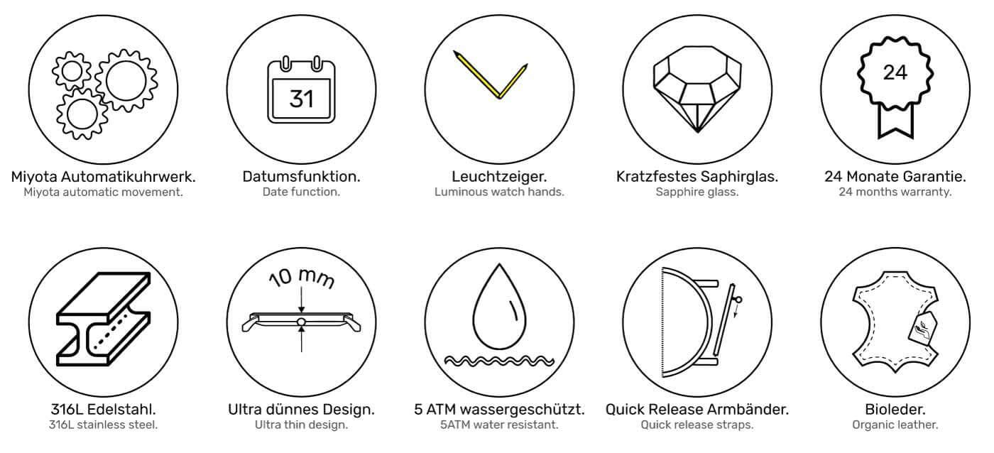 Specs Bauhaus Uhr